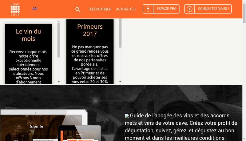 Capture d'écran du site de Smart Cave