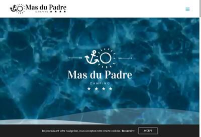 Site internet de SARL Camping le Mas de Padre