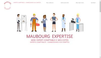 Site internet de Maubourg Expertise