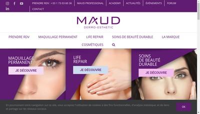 Site internet de Maud Dermo Esthetic Paris