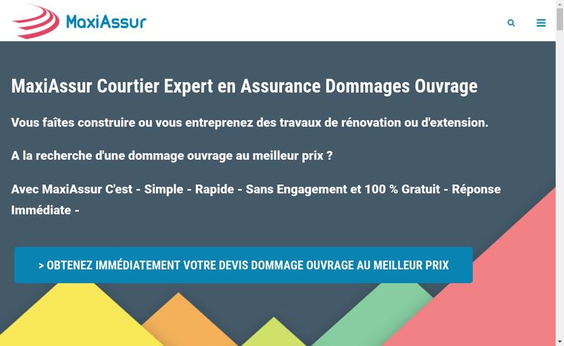 Capture d'écran du site de Maxiassur
