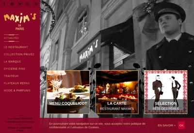 Site internet de Maxim S de Paris