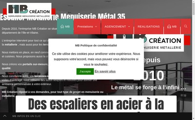 Site internet de Mb Creation