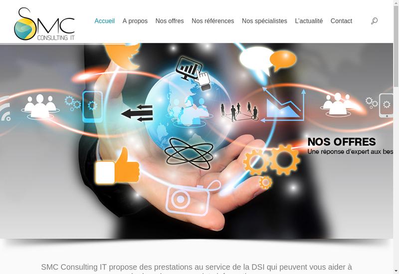 Capture d'écran du site de Smc Consulting It