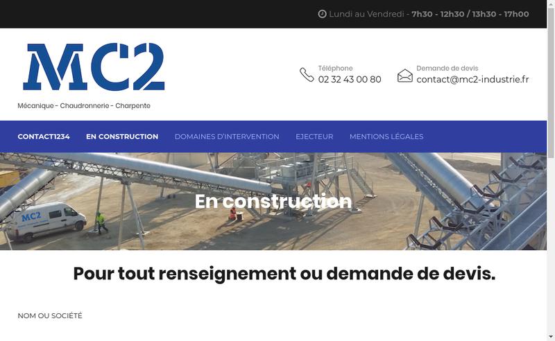 Capture d'écran du site de MC2