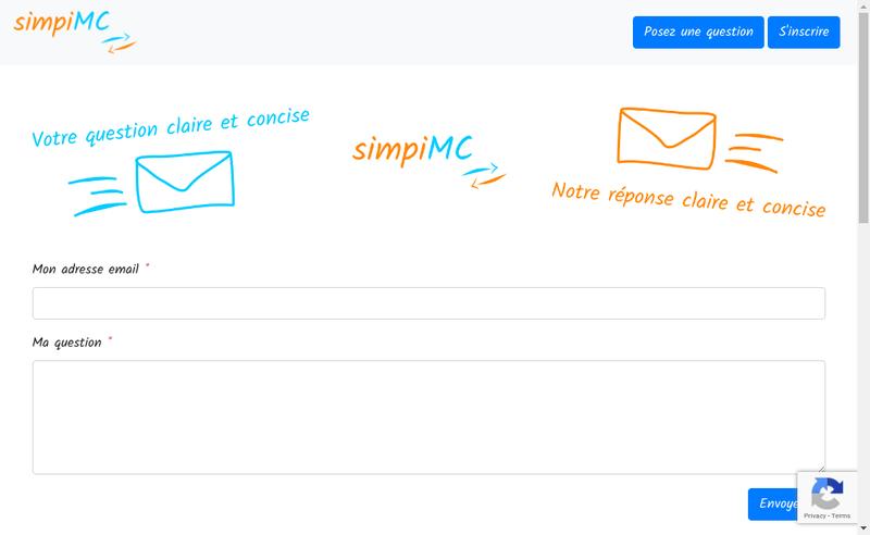 Capture d'écran du site de Simpi