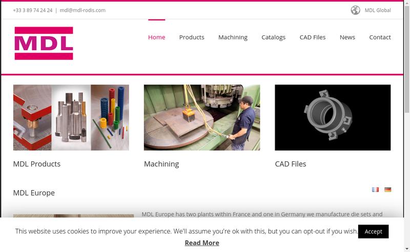 Capture d'écran du site de Mdl Rodis