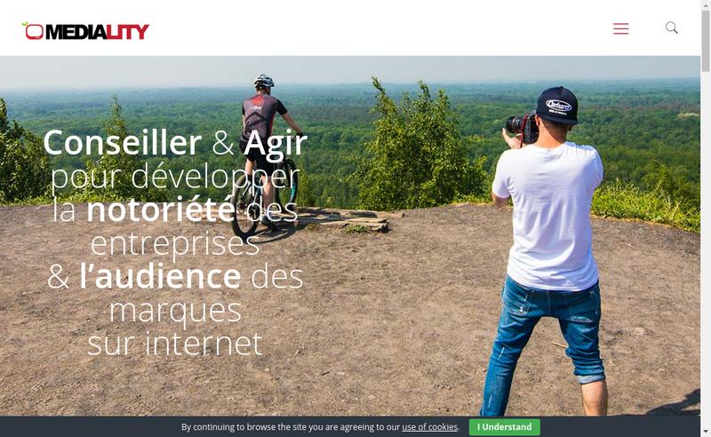 Capture d'écran du site de Mediality Consulting