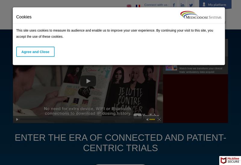 Capture d'écran du site de Medicodose Systems