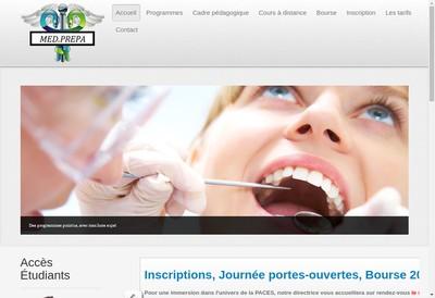 Site internet de Med Prepa