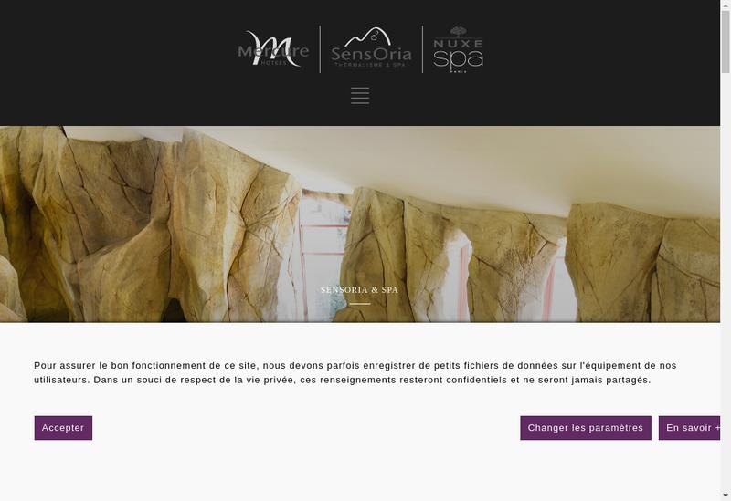 Capture d'écran du site de Hotel Mercure