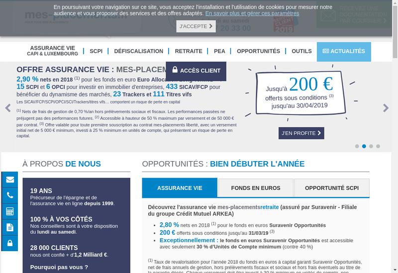 Capture d'écran du site de France Selection