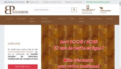 Site internet de Bois Passions