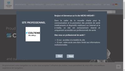 Site internet de Micro Mega