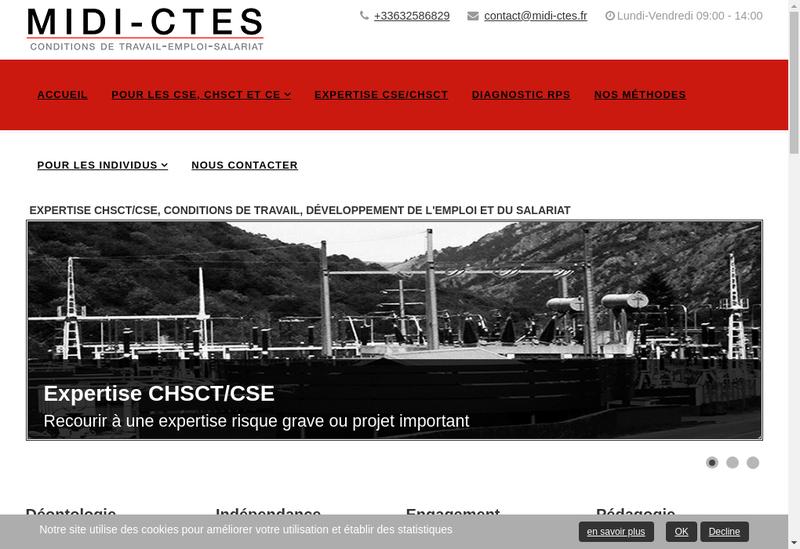 Capture d'écran du site de Midi-CTES