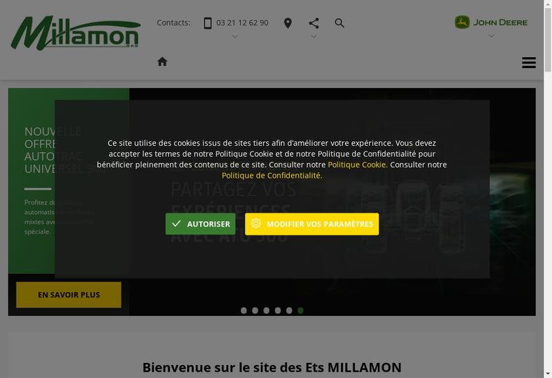 Capture d'écran du site de Millamon Sas