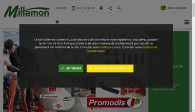 Site internet de Millamon Sas