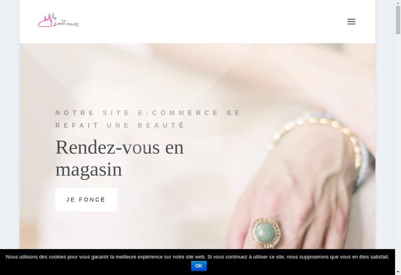 Capture d'écran du site de Mille Creations