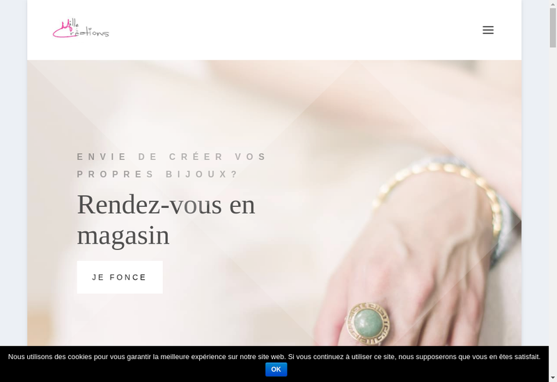Site internet de Mille Creations