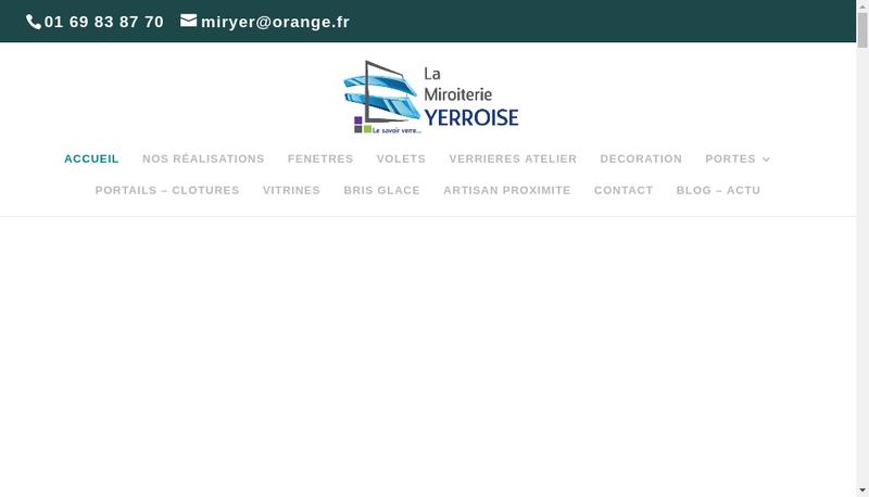Capture d'écran du site de La Miroiterie Yerroise