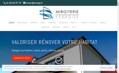 Site internet de La Miroiterie Yerroise