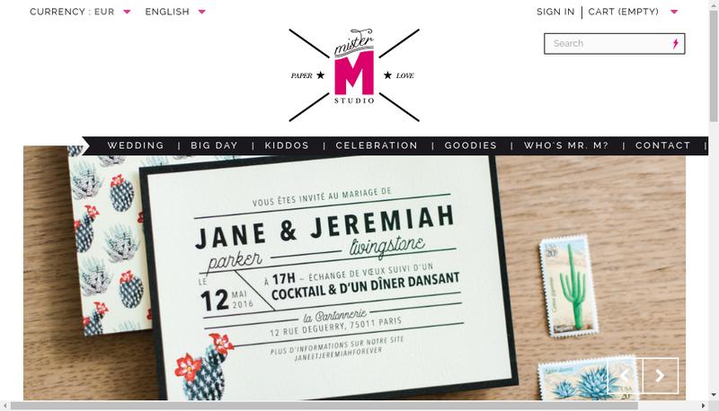 Capture d'écran du site de Mister M Studio