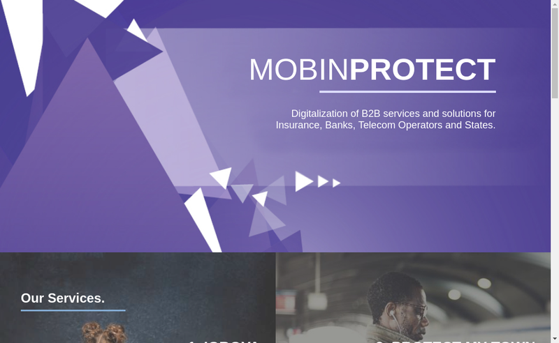 Capture d'écran du site de Mobinprotect