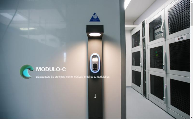 Capture d'écran du site de Modulo C