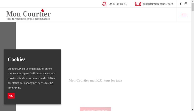 Capture d'écran du site de Mon Courtier