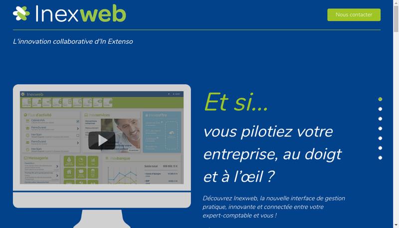 Capture d'écran du site de Inexweb