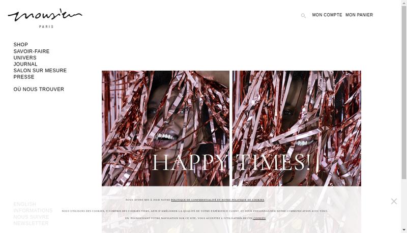 Capture d'écran du site de Les Babioles SARL