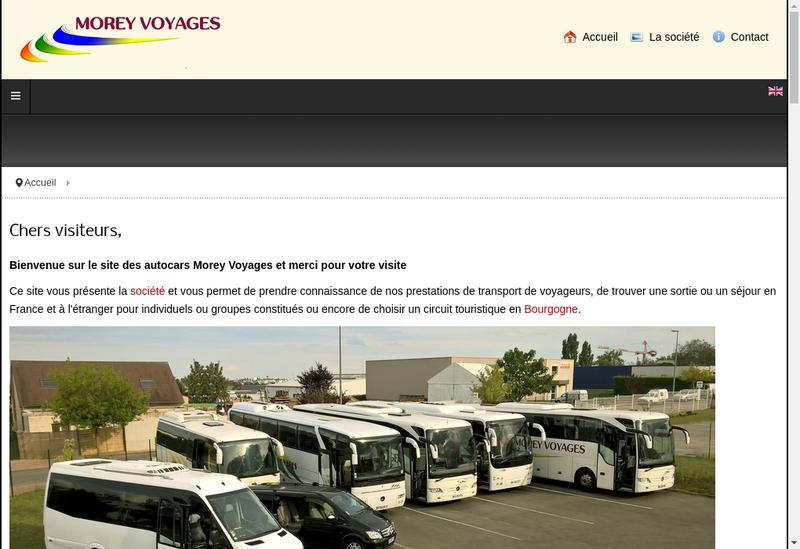 Capture d'écran du site de Morey Voyages