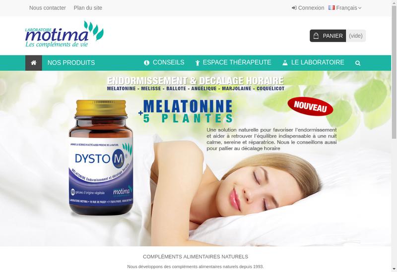 Capture d'écran du site de Laboratoire Motima