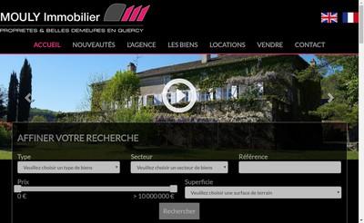 Site internet de Mouly Immobilier