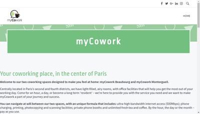 Site internet de My Cowork