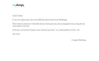 Site internet de Mydesign