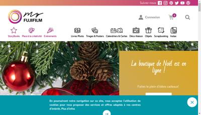Capture d'écran du site de Fujifilm France SAS