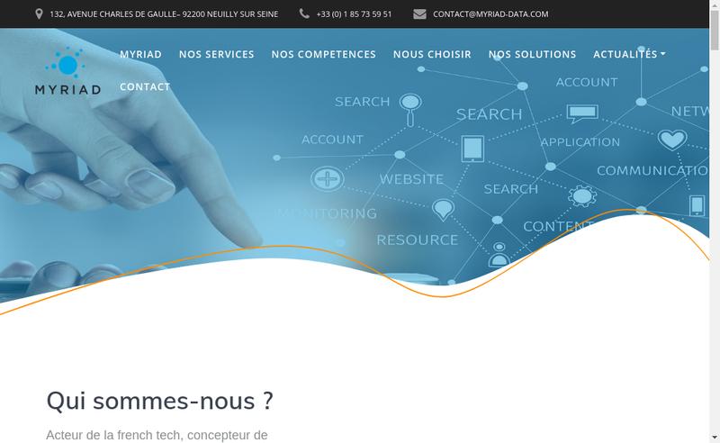 Capture d'écran du site de Myriad
