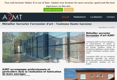 Capture d'écran du site de Myriad Genetics SAS