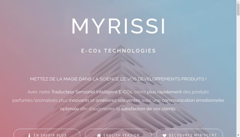 Capture d'écran du site de Myrissi