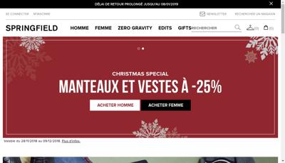 Capture d'écran du site de Springfield France