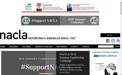 Site internet de Nacla