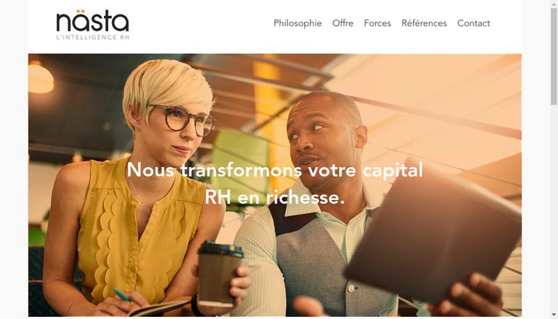 Capture d'écran du site de Nasta