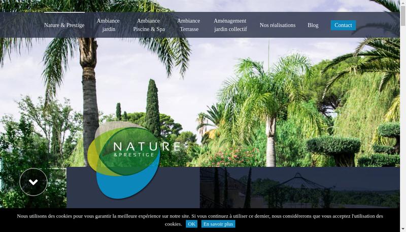 Capture d'écran du site de Nature & Prestige