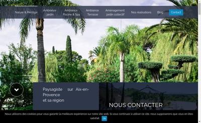 Site internet de Nature & Prestige