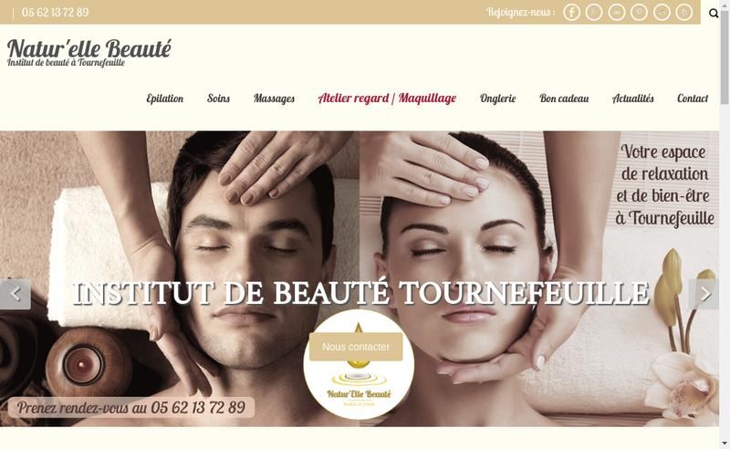 Capture d'écran du site de Natur'Elle Beaute
