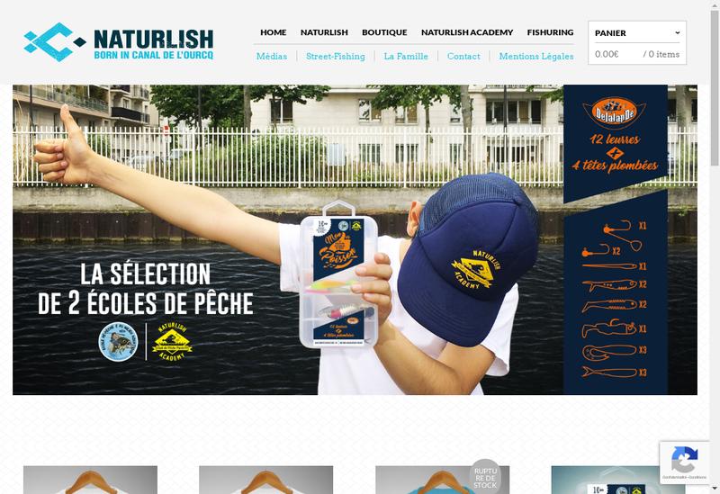 Capture d'écran du site de Naturlish