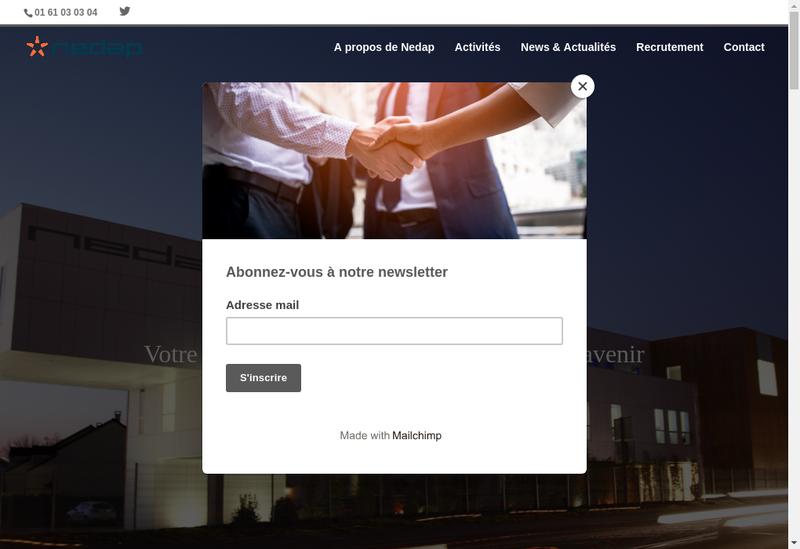 Capture d'écran du site de Nedap France