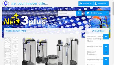 Capture d'écran du site de Neo3Plus