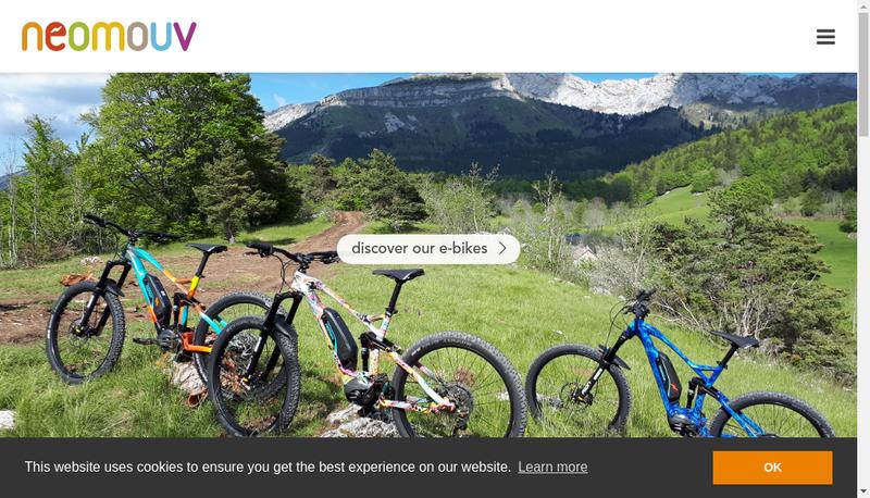 Capture d'écran du site de Neo Mouv